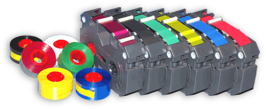 A stock PC-60 and PC-600 Empty ribbon cartridge for Roland Colorcamm PC-12